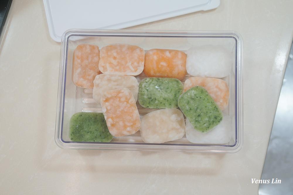 副食品食譜|5M9D 紅蘿蔔雞肉粥、雞肉粥、小松菜粥、七倍粥,懶媽媽一次做好一週份四種口味
