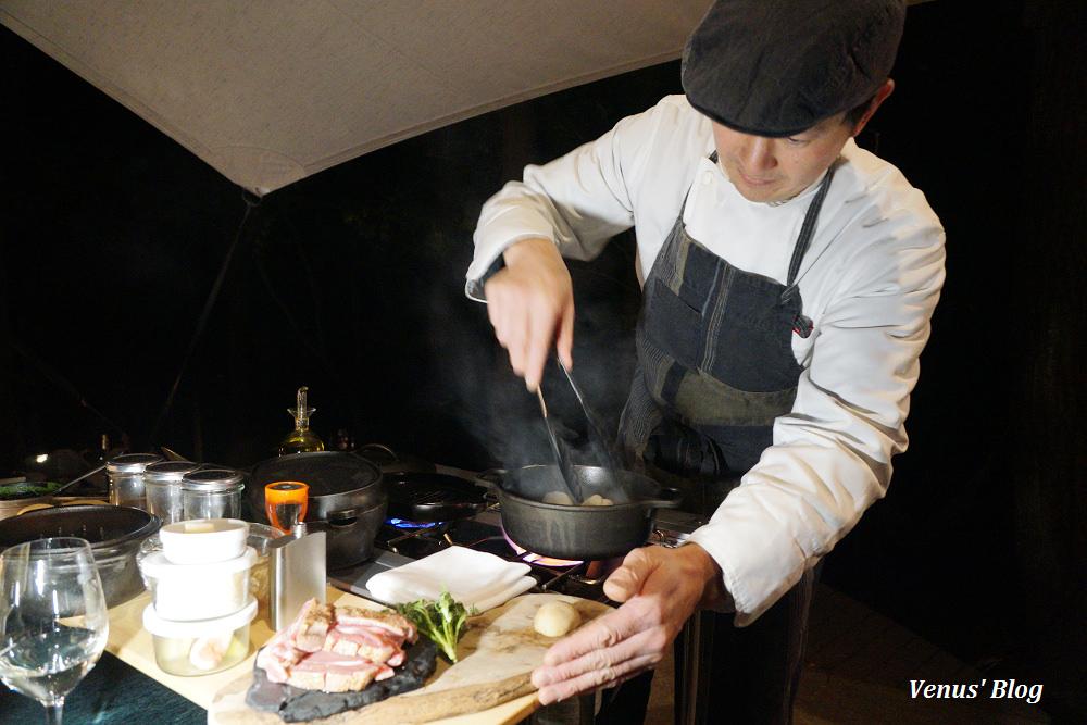 【河口湖星野】星のや富士-浪漫的森林BBQ晚餐,主廚桌邊料理