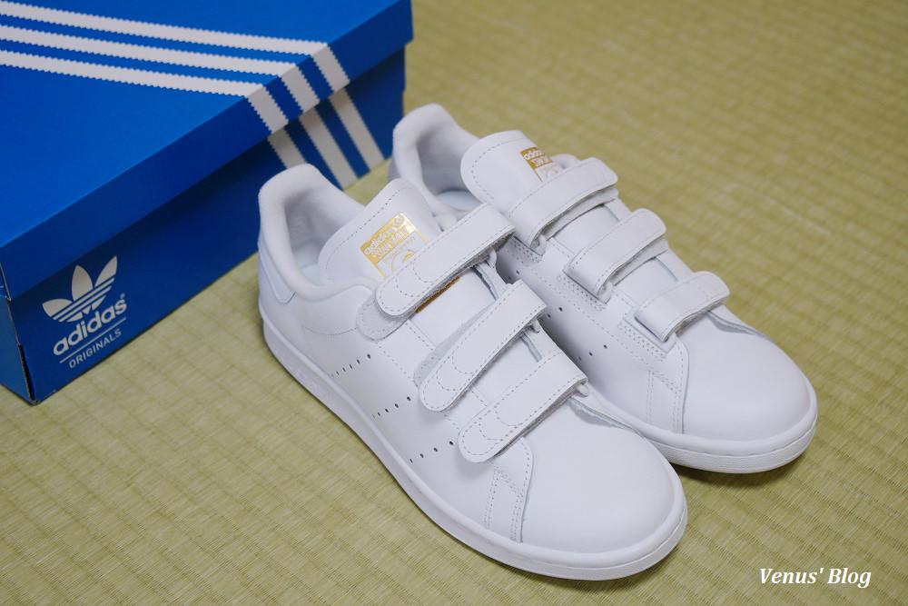 【日本買鞋子】Adidas Stan Smith魔鬼氈金色,台灣無此款,購於ABC mart