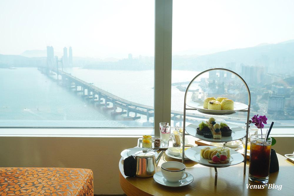 【韓國釜山下午茶】釜山柏悦酒店 Park Hyatt Busan 30F lounge,廣安大橋無敵海景,提早2個月訂位才能坐靠窗