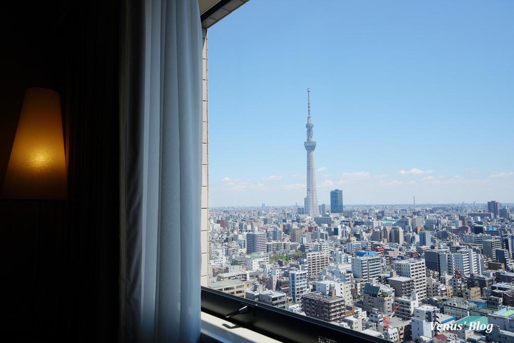 【東京兩國飯店】第一飯店兩國,躺在房間床上就可以賞晴空塔美景