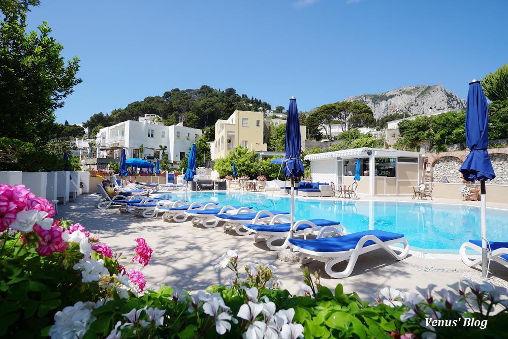 義大利卡布里島飯店,Villa San Felice,淺藍優雅風情適合度蜜月
