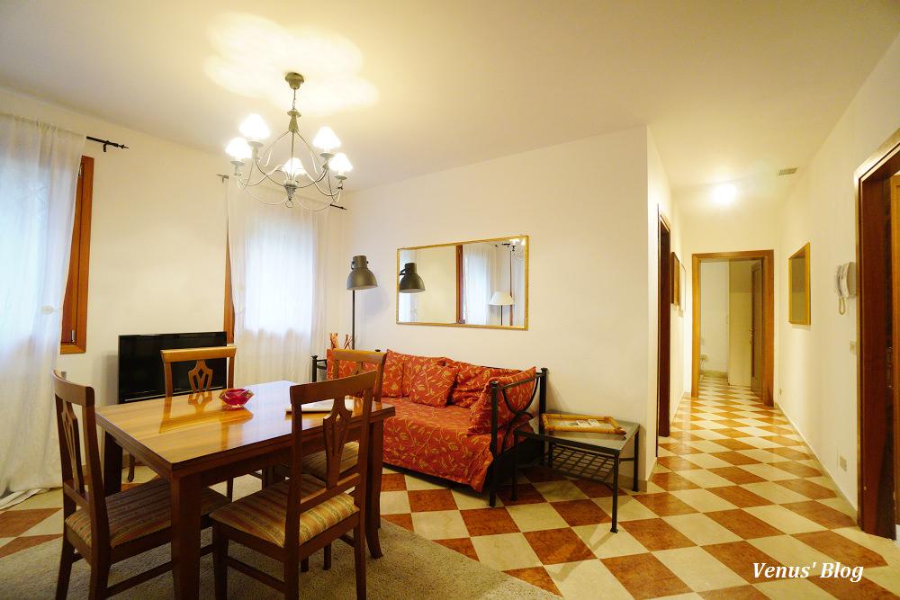 威尼斯平價住宿,Art Apartments Venice,兩房一廳附廚房