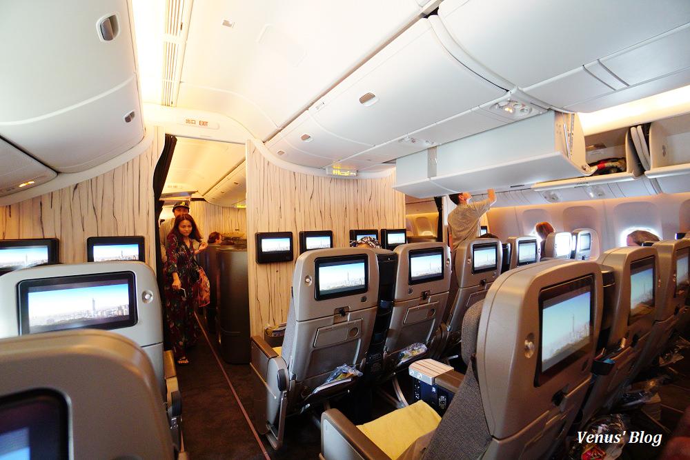 中華航空台北飛峇里島777-300ER豪華經濟艙,耳機好高檔.有哈根達斯可吃