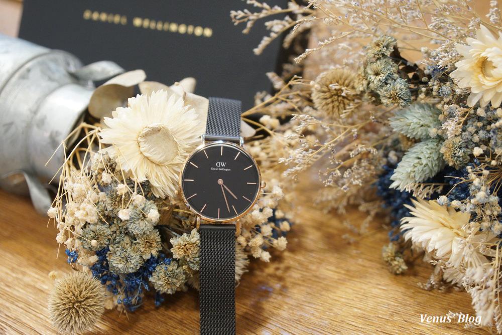 DW新錶上市,黑色網眼錶帶,V粉折扣碼85折