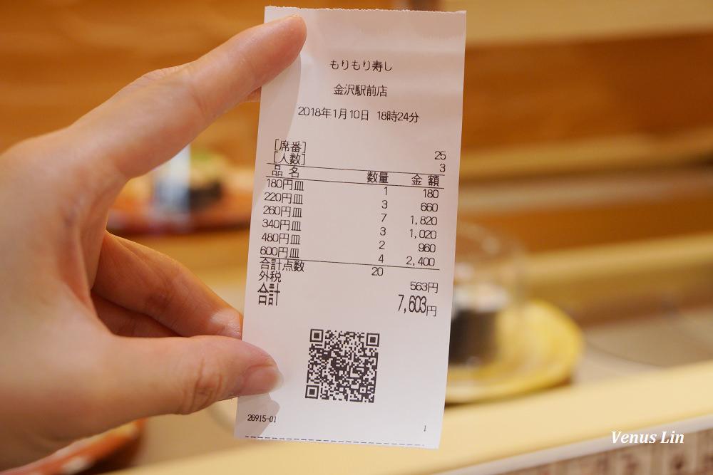 金澤必逛,金澤車站FORUS百貨,金澤車站必吃迴轉壽司,もりもり寿し迴轉壽司