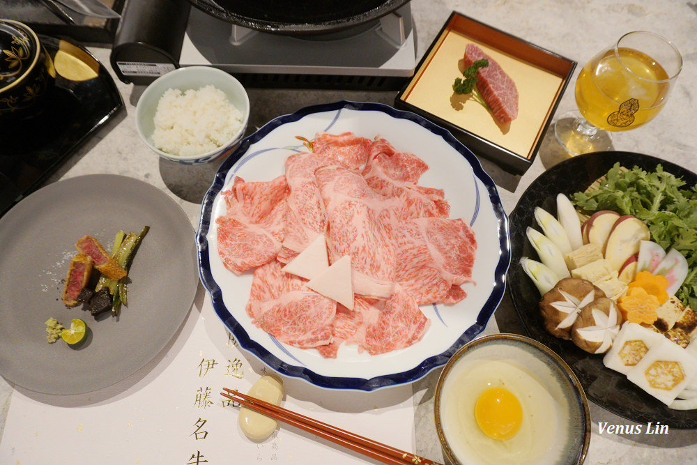台北信義區 樂軒松阪亭,穿和服大啖頂級和牛燒肉、關西風壽喜燒