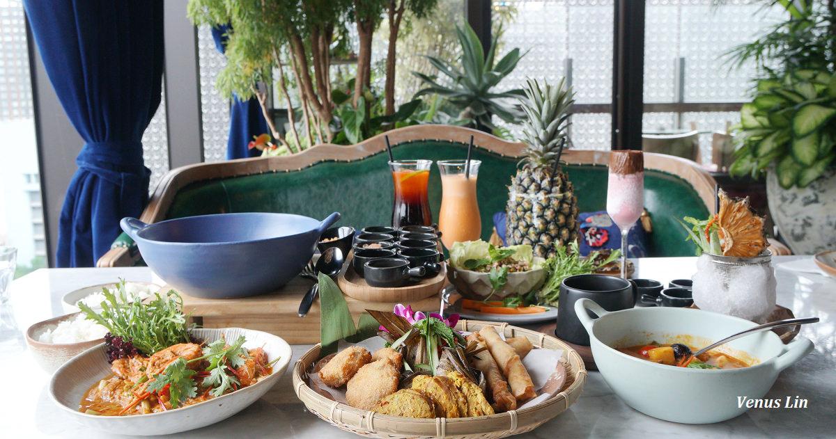 台北信義區|泰Thai.J,坐在超浮誇花園裡吃泰國菜,網美們都來這裡吃飯