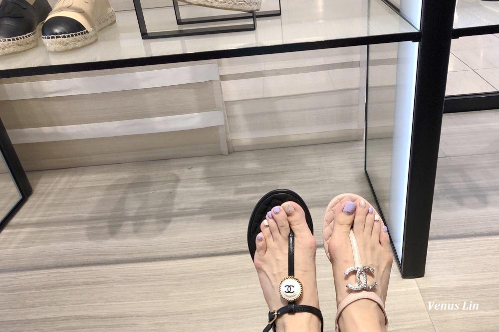 香奈兒涼鞋2018年新款,香奈兒涼鞋,香奈兒雙C涼鞋,東京買香奈兒