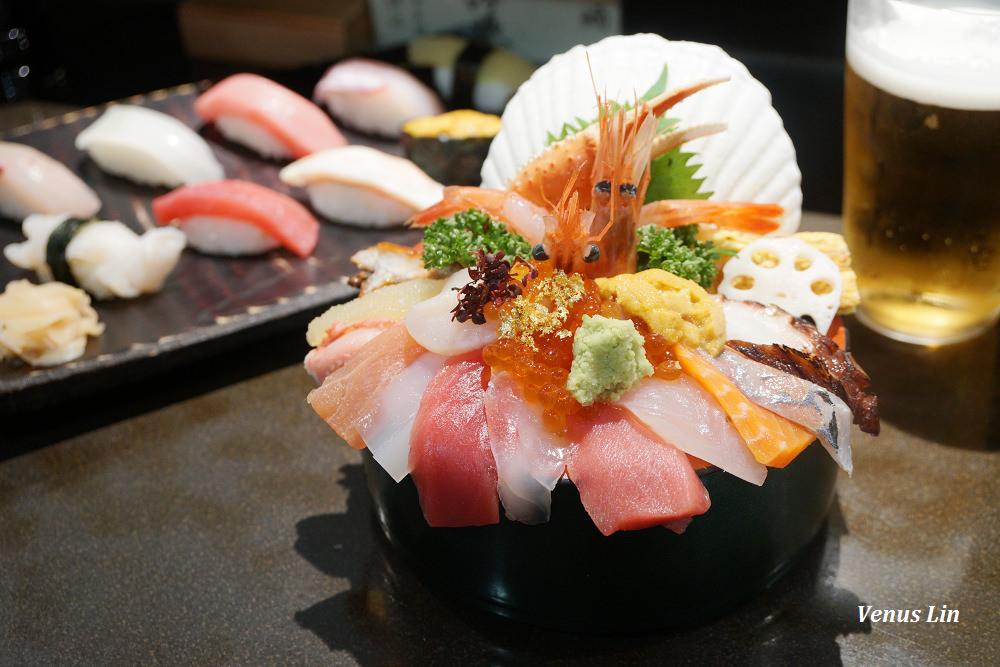 金澤美食|山さん寿司本店,近江町市場人氣第一名的浮誇海鮮丼