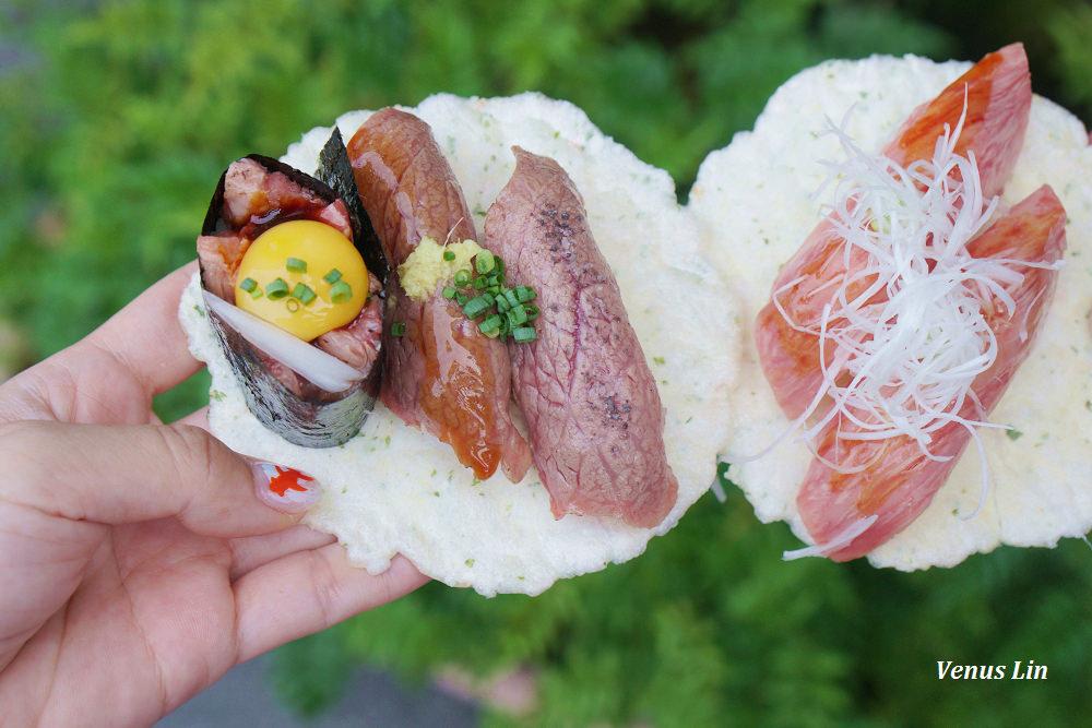 高山老街小吃|飛驒牛こって握壽司、牛まん喜八郎飛驒牛肉包
