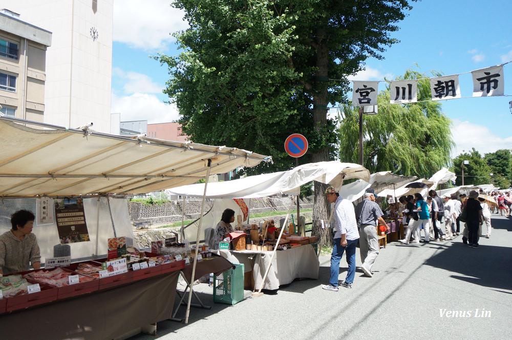 高山 宮川朝市,早起逛傳統市集,喝杯餅乾杯咖啡,吃飛驒高山布丁