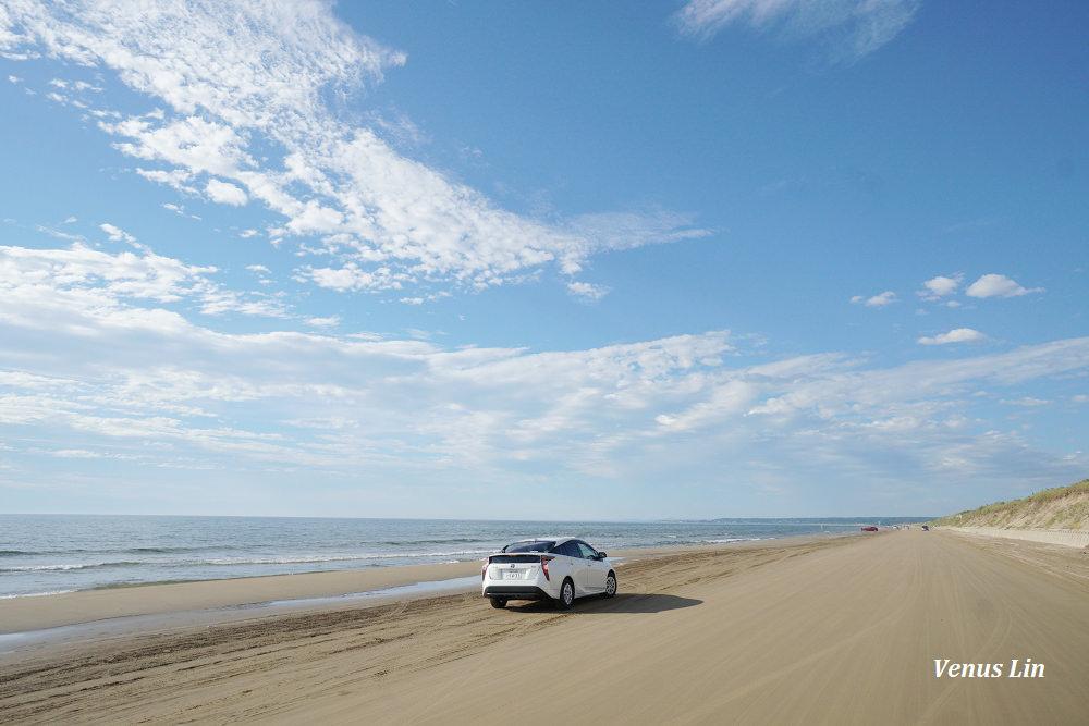石川能登半島|千里濱沙灘公路,日本唯一可以開車在沙灘上的路段