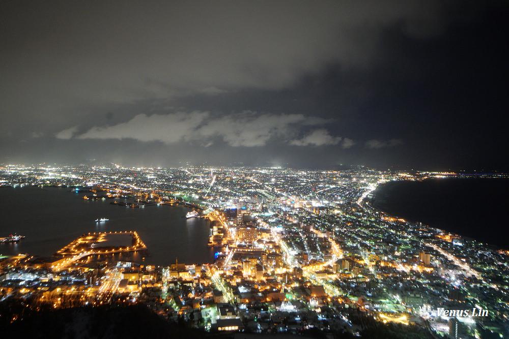 函館山夜景,日本三大夜景,函館夜景,函館山纜車交通,不帶腳架拍夜景
