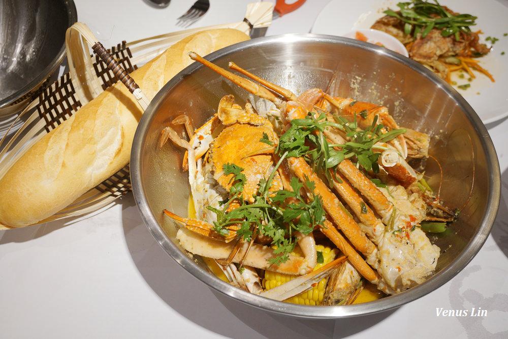 富國島美食|Crab House,大口吃螃蟹,醬汁沾法國麵包太邪惡