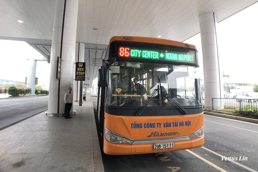 河內機場到市區最便宜的交通方式:86號公車,只要台幣50元可到36古街.還劍湖