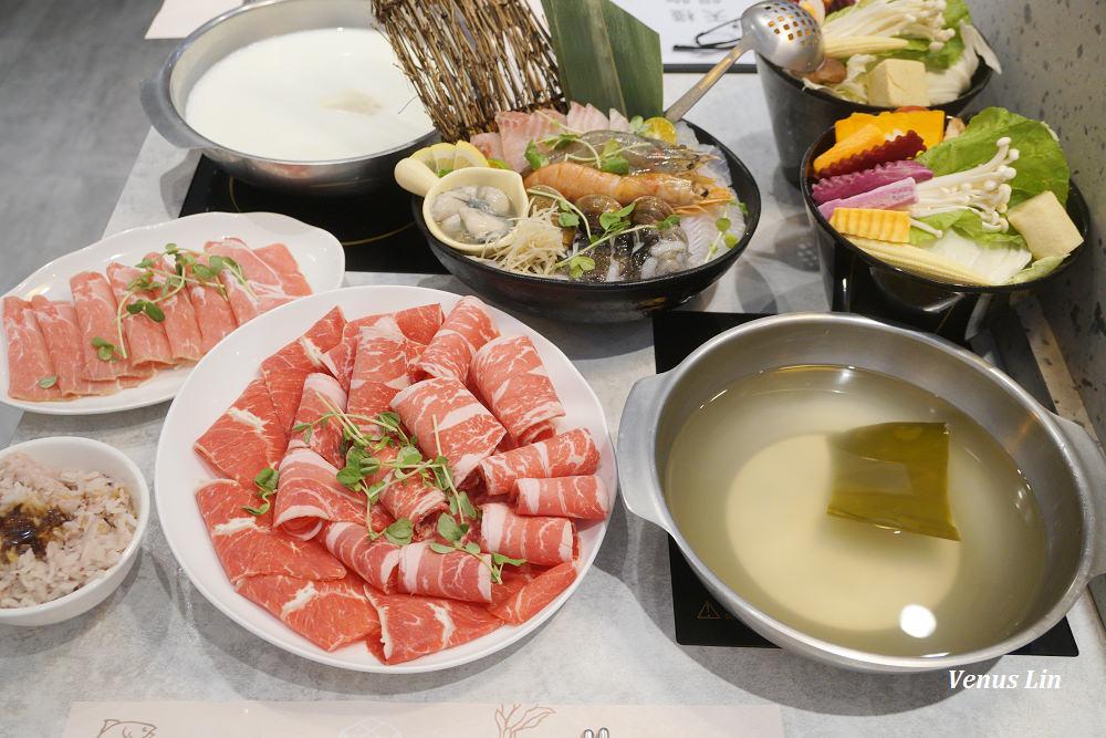 天母|天棧鍋物,怎麼有這麼美的火鍋店啦!菜盤可以換成一盤肉好體貼!
