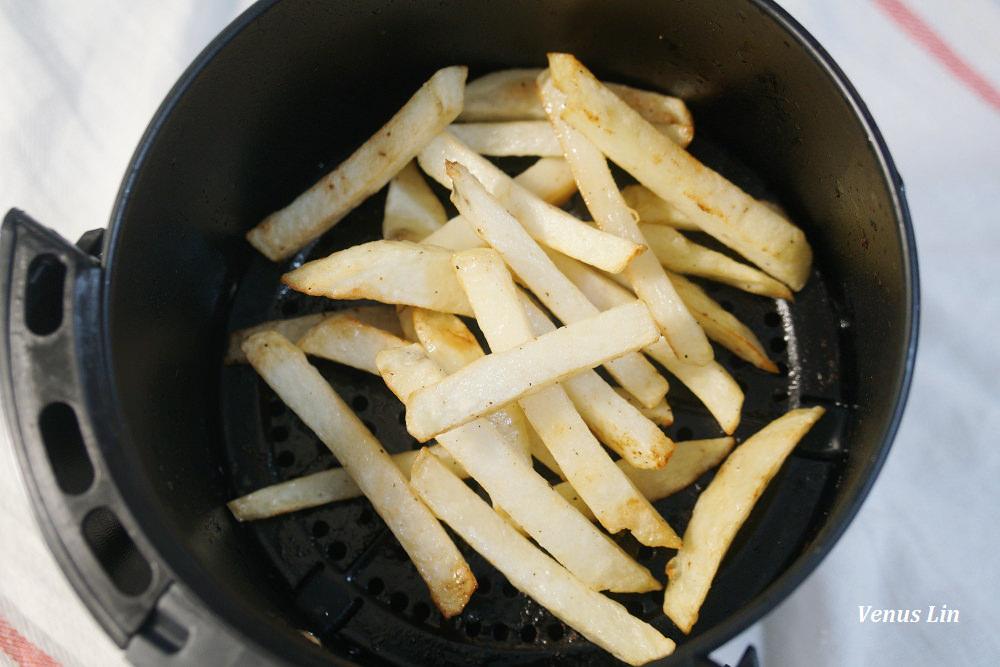 氣炸鍋食譜,氣炸薯條,新鮮馬鈴薯做成薯條,氣炸薯條食譜