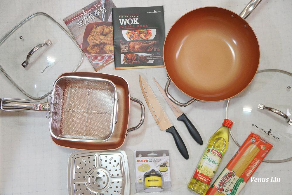 Copper Chef方形不沾炒鍋,Copper Chef11.5吋圓形炒鍋,Copper Chef不沾鍋,肉絲蛋炒飯食譜,少油炒飯,超簡單炒飯食譜