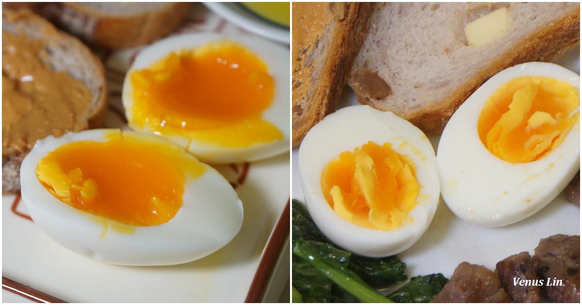 食譜|電鍋水煮蛋也太完美,溏心蛋、9分熟隨你選擇!水跟蛋黃熟度比例