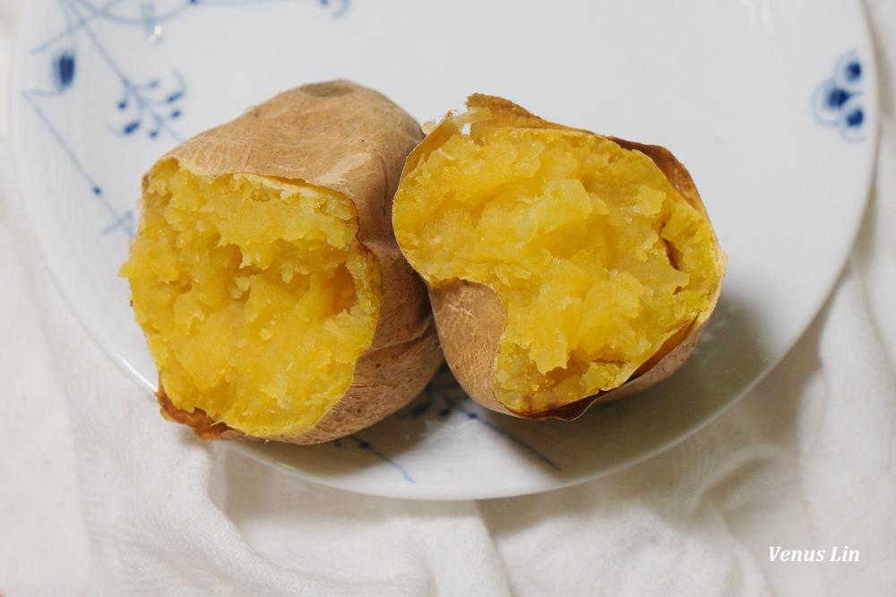 氣炸鍋食譜|氣炸地瓜,從生地瓜到媲美外面賣的烤地瓜只要25分鐘