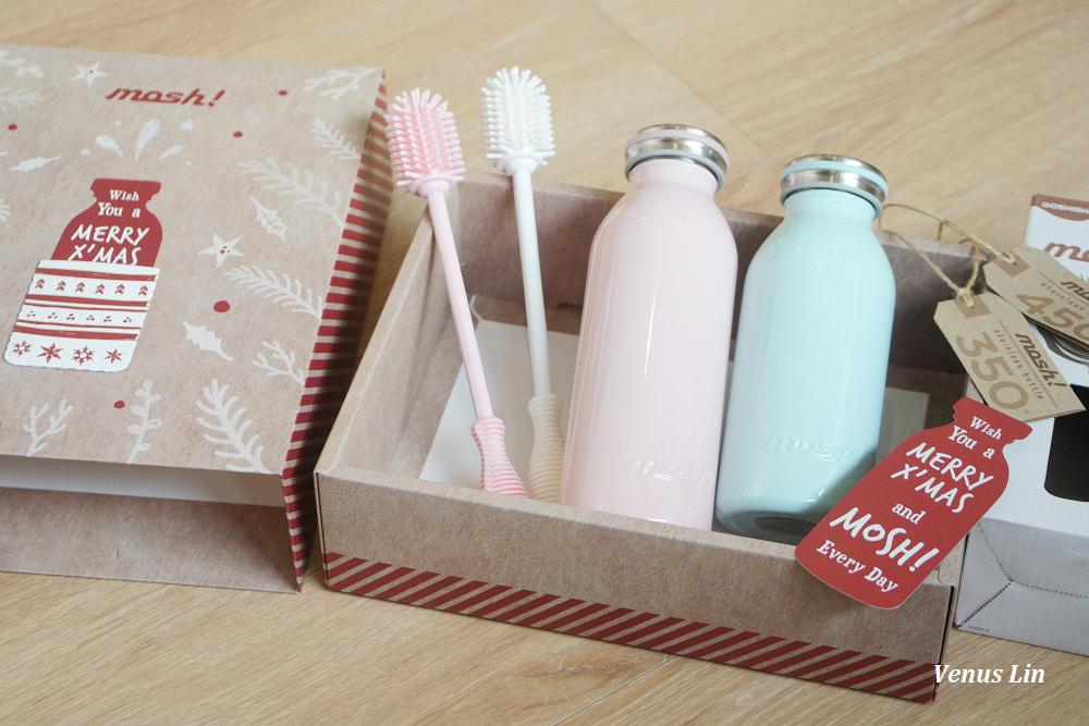 mosh!牛奶保溫瓶聖誕精裝禮盒,愛不釋手的復古牛奶瓶造型,保溫效果極好
