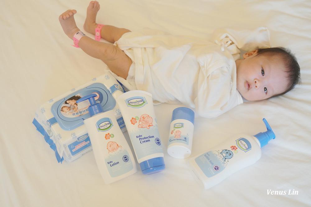 呵護女兒的柔嫩肌膚~貝恩嬰兒全效護膚膏、嬰兒保養柔濕巾、嬰兒活膚面霜、嬰兒泡泡香浴露、嬰兒爽膚乳液