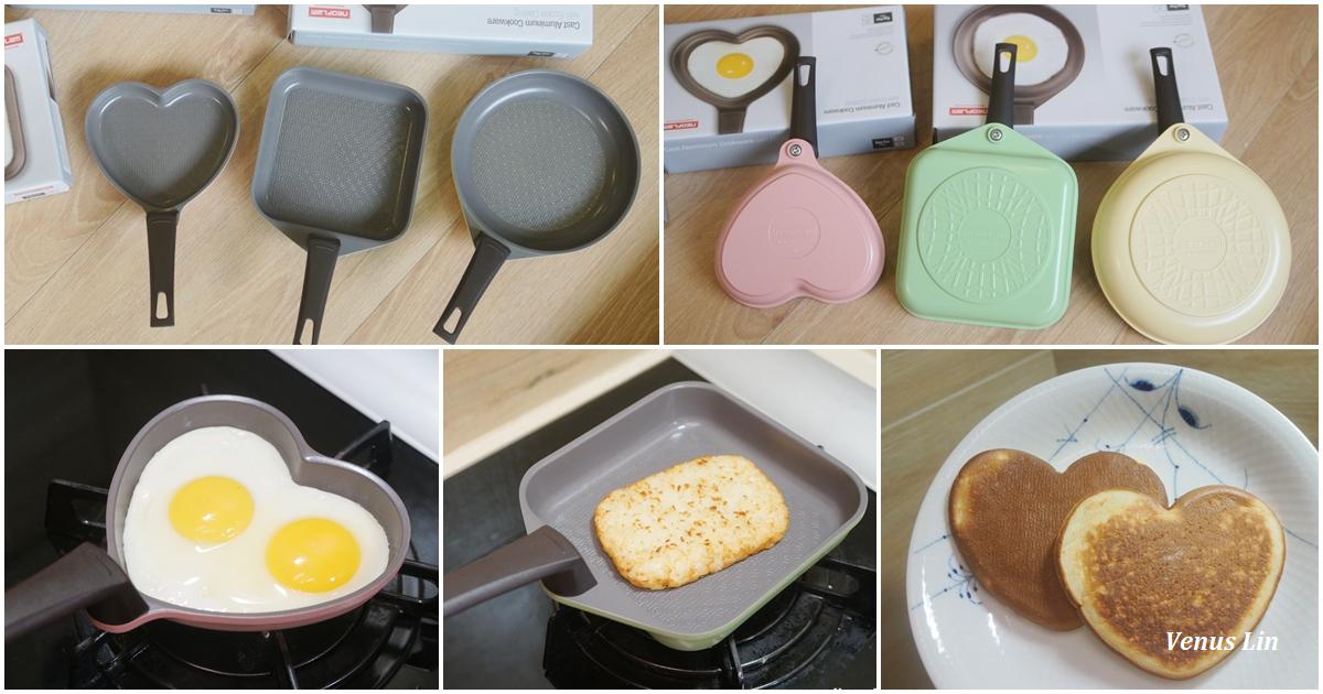 NEOFLAM可愛煎蛋小鍋三件組,早餐的好幫手