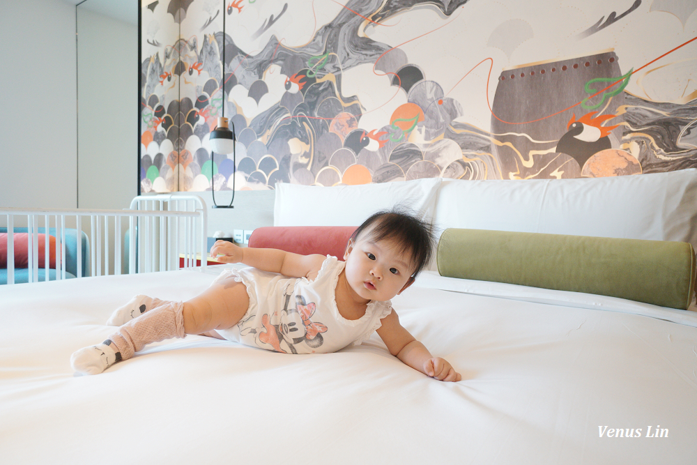 大直英迪格酒店,適合帶小孩一起入住的時尚設計飯店,房間可看愛奇藝