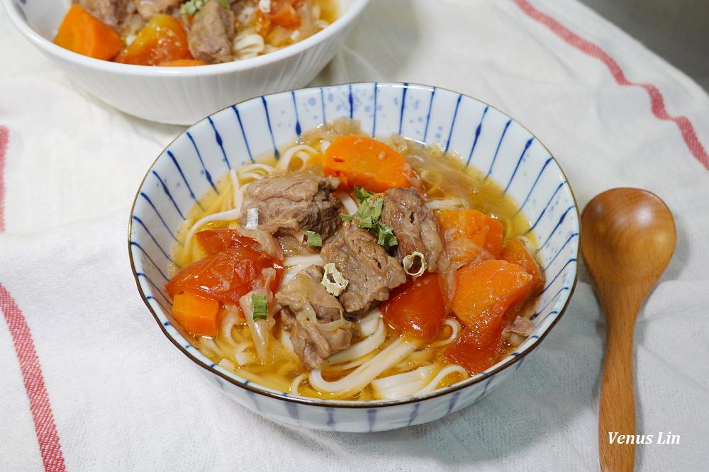 零廚藝煮超好吃蕃茄牛肉麵/蕃茄燉牛肉,牛肋條入口即化好好吃(siroca壓力鍋食譜)