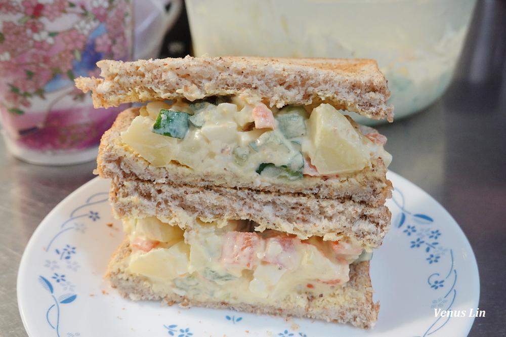 馬鈴薯雞蛋沙拉食譜,夏天夾吐司當早餐非常清爽