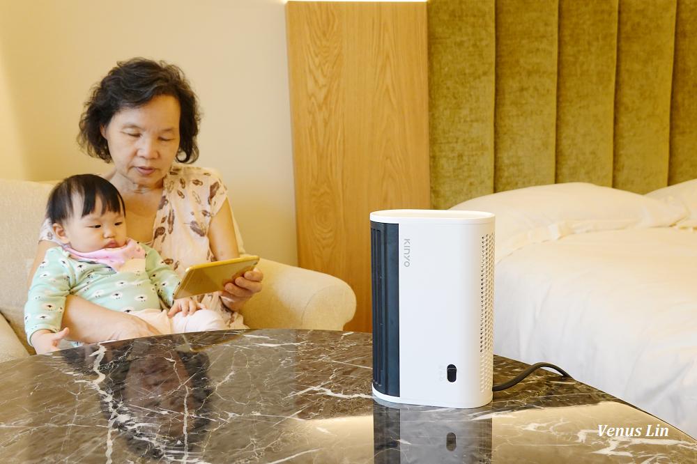 KINYO迷你立臥兩用電暖器,1秒瞬熱,730g超輕巧方便隨時移動