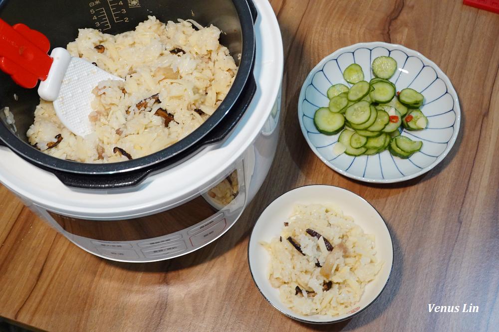 香菇竹筍炊飯,一鍋到底的懶人食譜,好吃到一滴米都不剩,加壓8分鐘、15分鐘內快速煮好(siroca壓力鍋食譜)