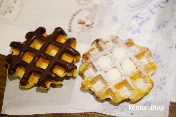 【日本岡山】Manneken比利時鬆餅、岡山車站排隊美食、又脆又酥超級好吃