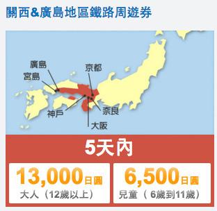 03JR西日本關西廣島地區鐵路周遊券01
