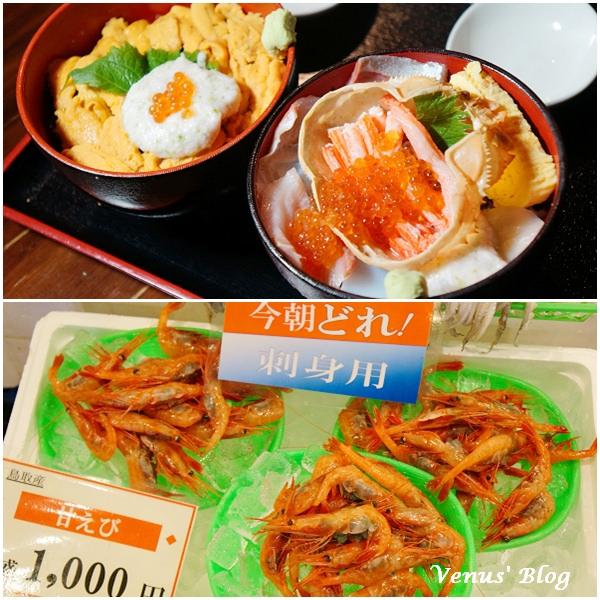 【鳥取必買必逛必吃】鳥取港海鮮市場かろいち、甜蝦甜到爆表1大袋¥1000、賀露幸大犯規豪華海鮮丼