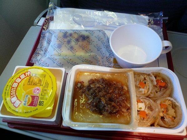 【飛機餐】台北→香港 華航飛機餐